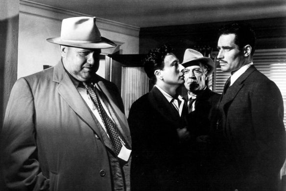 "Kadr z filmu ""Dotyk zła"" (reż. Orson Welles)"